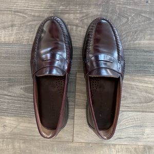 Bostonian Leather Penny Loafers - Burgundy - 8.5 M